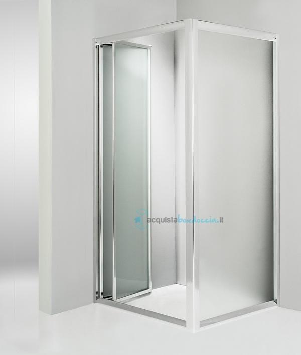 Vendita box doccia angolare anta fissa porta soffietto 60x100 cm opaco - Box doccia senza piatto ...
