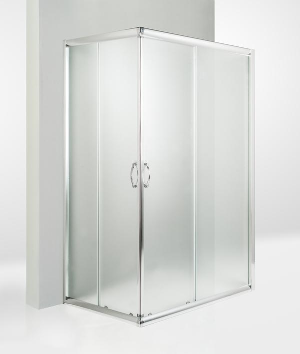 Box doccia 3 lati porta scorrevole 85x70x85 cm opaco