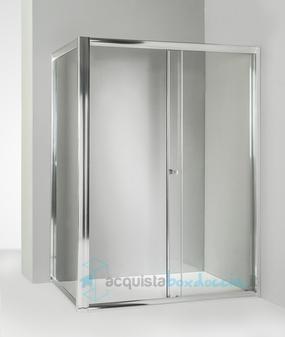 Porta Per Cabina Doccia.Box Doccia Angolare Anta Fissa Porta Scorrevole 100x150 Cm Trasparente