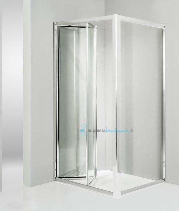 Vendita box doccia angolare anta fissa porta soffietto 70x90 cm trasparente - Costo sostituzione piatto doccia ...