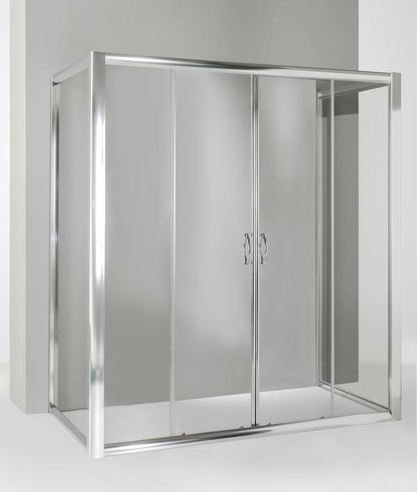 prima i clienti Box doccia doccia doccia 3 lati con 2 ante fisse e porta scorrevole 60x170x60 cm trasparente  prezzi bassissimi