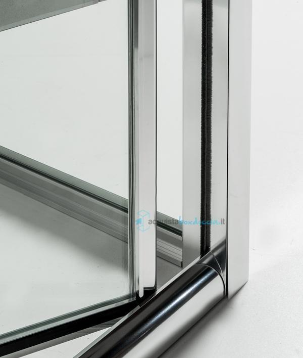 Vendita box doccia 3 lati con 2 ante fisse e porta a soffietto 70x90x70 cm trasparente - Porta a soffietto costo ...