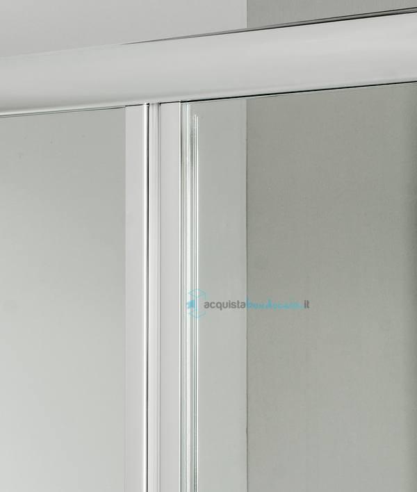 Vendita box doccia 3 lati con 2 ante fisse e porta a soffietto 100x80x100 cm trasparente - Porta a soffietto costo ...