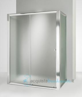 Box Doccia Scorrevole 3 Ante.Vendita Box Doccia 3 Lati Con 2 Ante Fisse E Porta Scorrevole