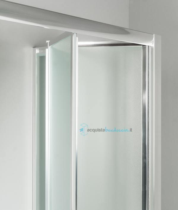 Box doccia 3 lati con 2 ante fisse e porta a soffietto - Porta doccia soffietto ...