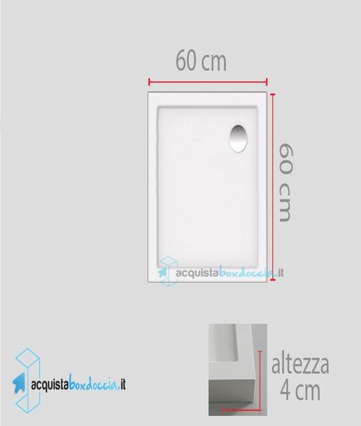 Vendita piatto doccia 60x60 cm  Acquistaboxdoccia.it