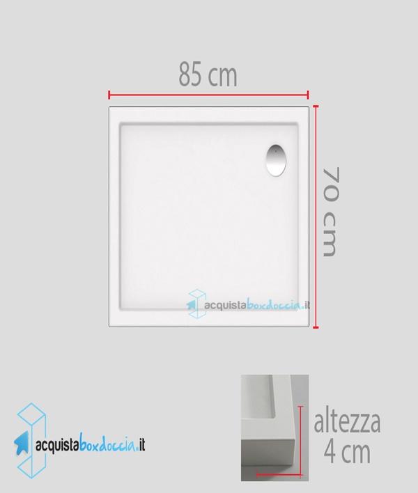 Piatto doccia 70x85 cm altezza 4 cm - Piatto doccia 70x85 ...