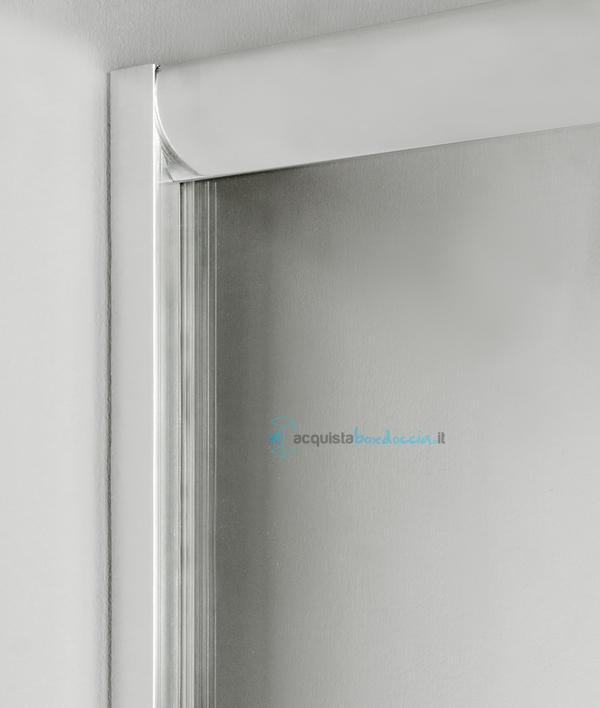 Box Doccia Semicircolare 80x80 H 180.Box Doccia Angolare Porta Scorrevole 80x80 Cm Trasparente Altezza 180 Cm
