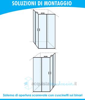 Box Doccia Altezza Su Misura.Box Doccia Angolare Porta Scorrevole 80x80 Cm Trasparente Altezza 180 Cm
