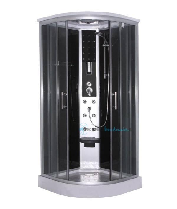 Vendita box doccia idromassaggio semicircolare 90x90 cm for Box doccia obi