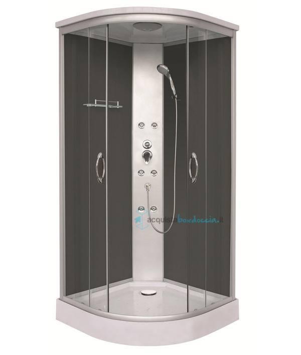 Vendita box doccia idromassaggio semicircolare 90x90 cm - Doccia con led colorati ...