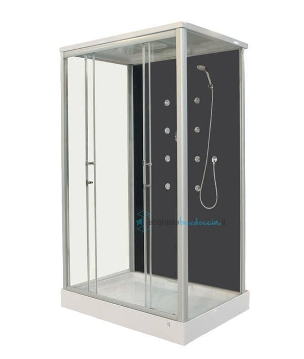 Vendita box doccia idromassaggio 3 lati scorrevole 90x120 cm ...