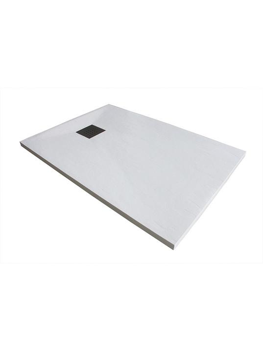 Piatto doccia 90x155 cm altezza 3 cm in resina ultrasottile senza bordo Coloreeee b