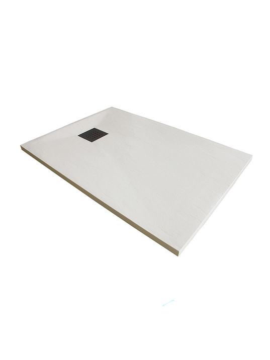 Piatto doccia 75x175 cm altezza 3 cm in resina ultrasottile senza bordo Coloreeee b