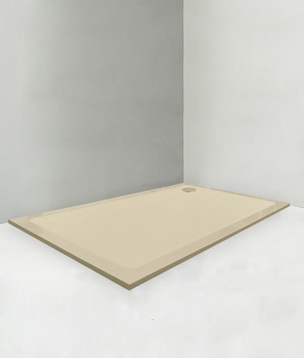 Piatto doccia 95x110 cm altezza 2 cm colore crema