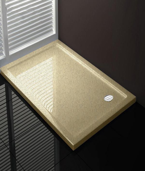 Piatto doccia 150x65 cm altezza 4 cm Coloreeee crema