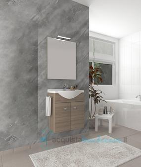 Vendita mobile bagno linea zaffiro cm 60 due ante con lavabo ...
