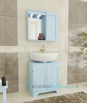 Vendita mobile bagno decapÉ cm 60 con zoccolo due ante con lavabo ...