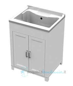 Vendita mobile bagno lavanderia lavatoio con lavello in for Mobile lavello bagno
