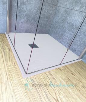 Vendita Piatto Doccia 60x60 Cm Altezza 2 5 Cm Resina Bianco Acquistaboxdoccia It