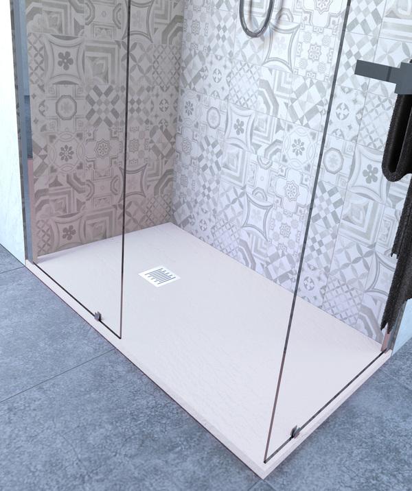 Piatto doccia 100x185 cm altezza 2.5 cm resina bianco