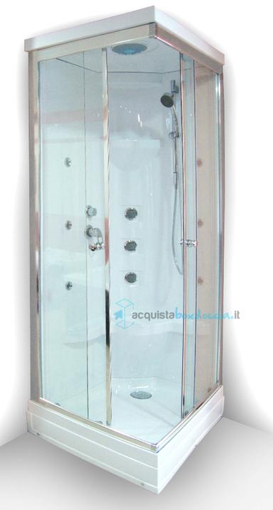 Cabina Doccia Multifunzione 70x90.Vendita Cabina Idromassaggio 70x90 Cm Multifunzione Versione Dx