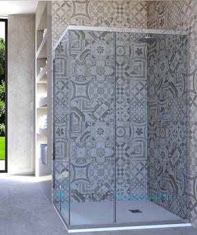 Dimensione Piatto Doccia 60x90.Box Doccia Angolare Porta Scorrevole 60x90 Cm Trasparente