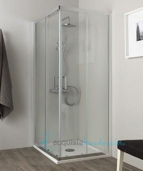 Vendita box doccia angolare porta scorrevole 85x120 cm for Porta finestra scorrevole 120 cm