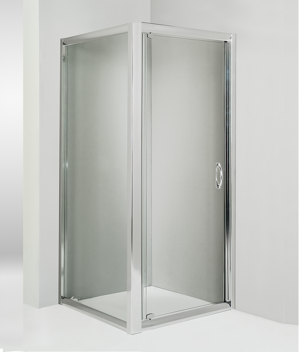 Box doccia angolare anta fissa porta battente 80x85 cm trasparente