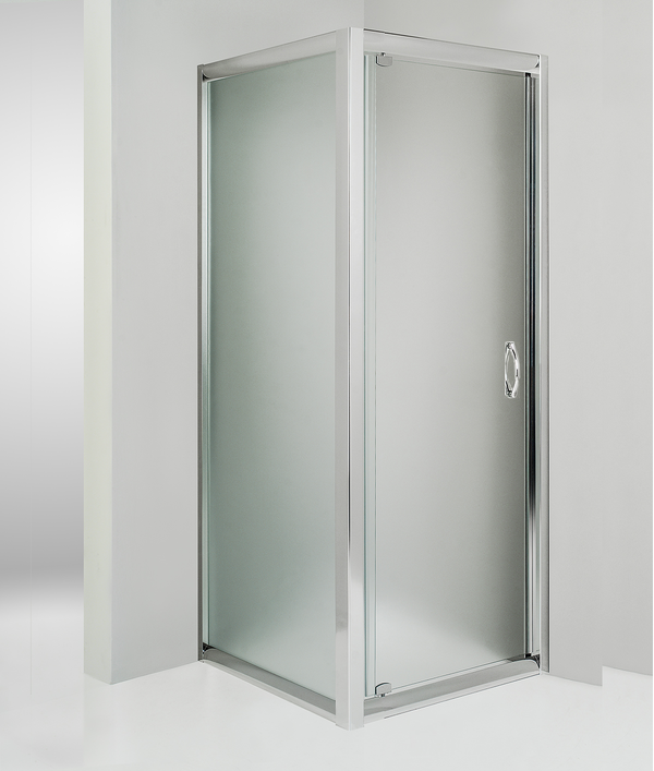 Box doccia angolare anta fissa porta battente 60x95 cm opaco