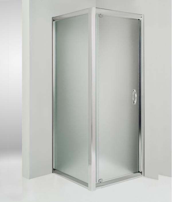 Box doccia angolare anta fissa porta battente 80x70 cm opaco