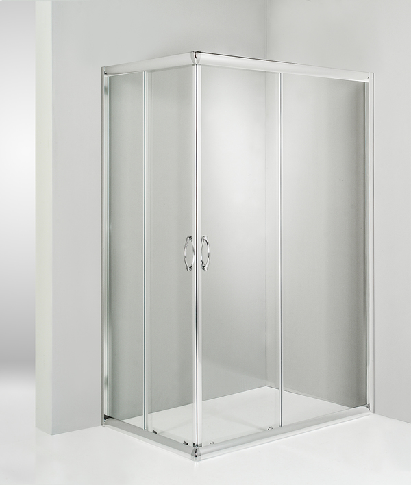Box doccia angolare porta scorrevole 65x65 cm trasparente altezza 180 cm
