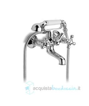 Gruppo Vasca Con Doccia.Gruppo Vasca Con Doccia E Flessibile Serie Armonia Gs