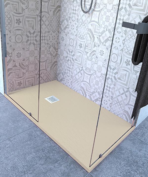 Piatto doccia 85x100 cm altezza 2.5 cm resina avorio