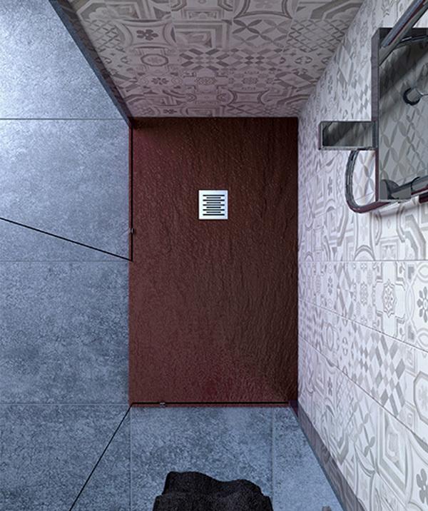ottima selezione e consegna rapida Piatto doccia doccia doccia 75x90 cm altezza 2.5 cm resina cioccolato  fornire un prodotto di qualità