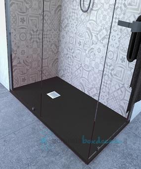foto de Vendita piatto doccia 60x90 cm altezza 2 5 cm resina nero