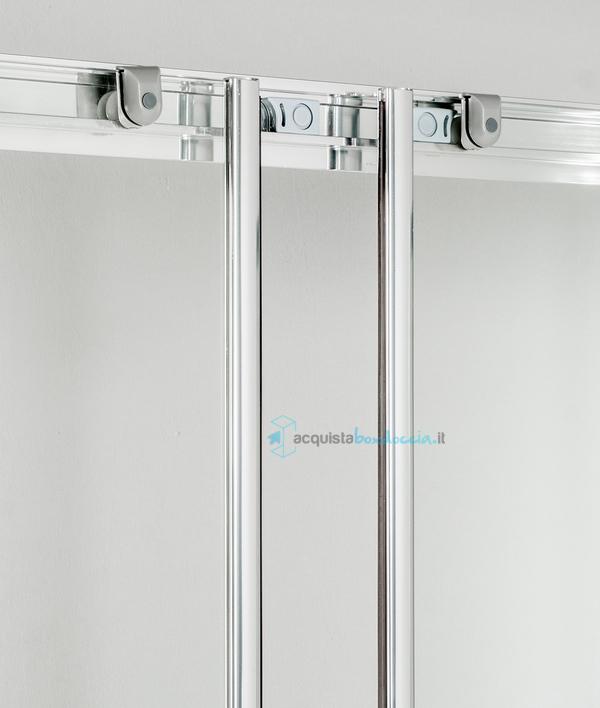 HYDRA Porta Doccia Scorrevole 175 cm Opaco Serie n