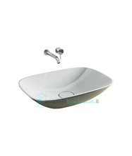 lavabo d'appoggio in luxolid 60x42 cm - soft medium