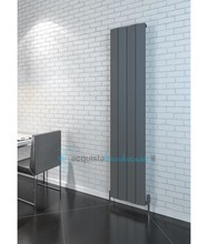 termoarredo in alluminio 1800x375 mm antracite interasse 375 mm modello cunda - linea super power
