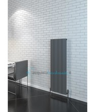 termoarredo in alluminio 600x565 mm antracite interasse 565 mm modello cunda - linea super power