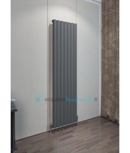 termoarredo in alluminio 1800x345 mm antracite interasse 345 mm modello ula - linea super power