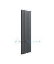 termoarredo in alluminio 1800x485 mm antracite interasse 485 mm modello birgi - linea super power