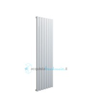 termoarredo in alluminio 1800x345 mm bianco interasse 345 mm modello birgi - linea super power