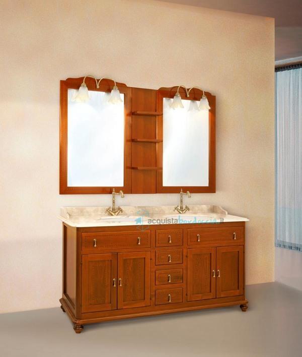 Vendita mobile bagno con pensile centrale e doppio lavabo ...