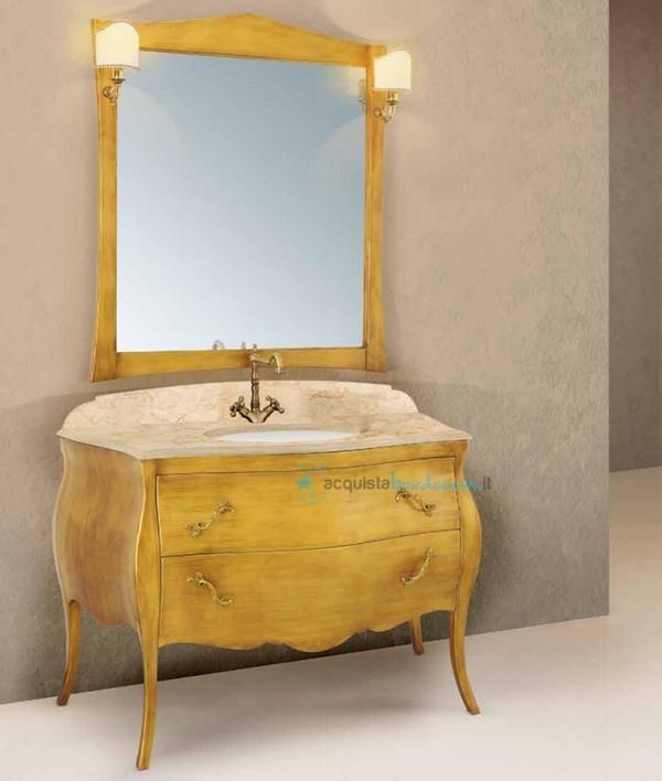 Vendita mobile bagno finitura oro anticato linea mozart ...
