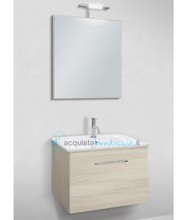 mobile bagno linea slim 61 cm - global trade - cod. slim61.1c/00