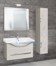 mobile bagno con colonna linea light 85 cm - global trade - cod. light85.s.c/00