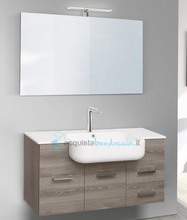 mobile bagno linea qubo 101 cm - global trade - cod. q101.s/00