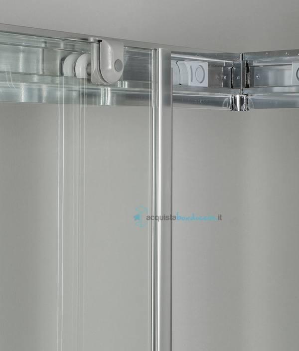 Box doccia angolare porta scorrevole 80x110 cm opaco - Doccia senza porta ...