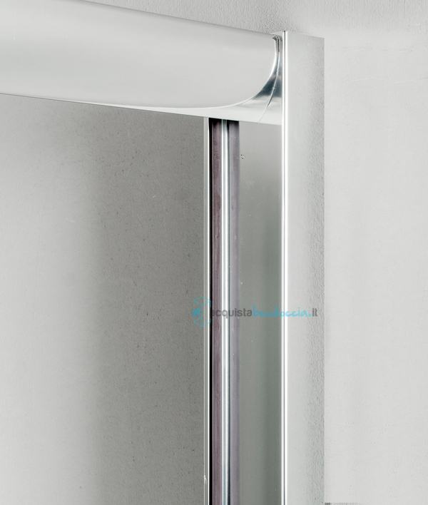 Box doccia angolare anta fissa porta battente 75x75 cm opaco - Box doccia porta battente ...